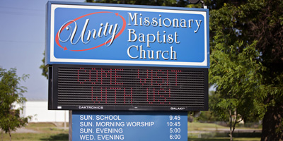 Unity MIssionary Baptist Church Locate Us
