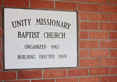 Unity Missionary Baptist Church History